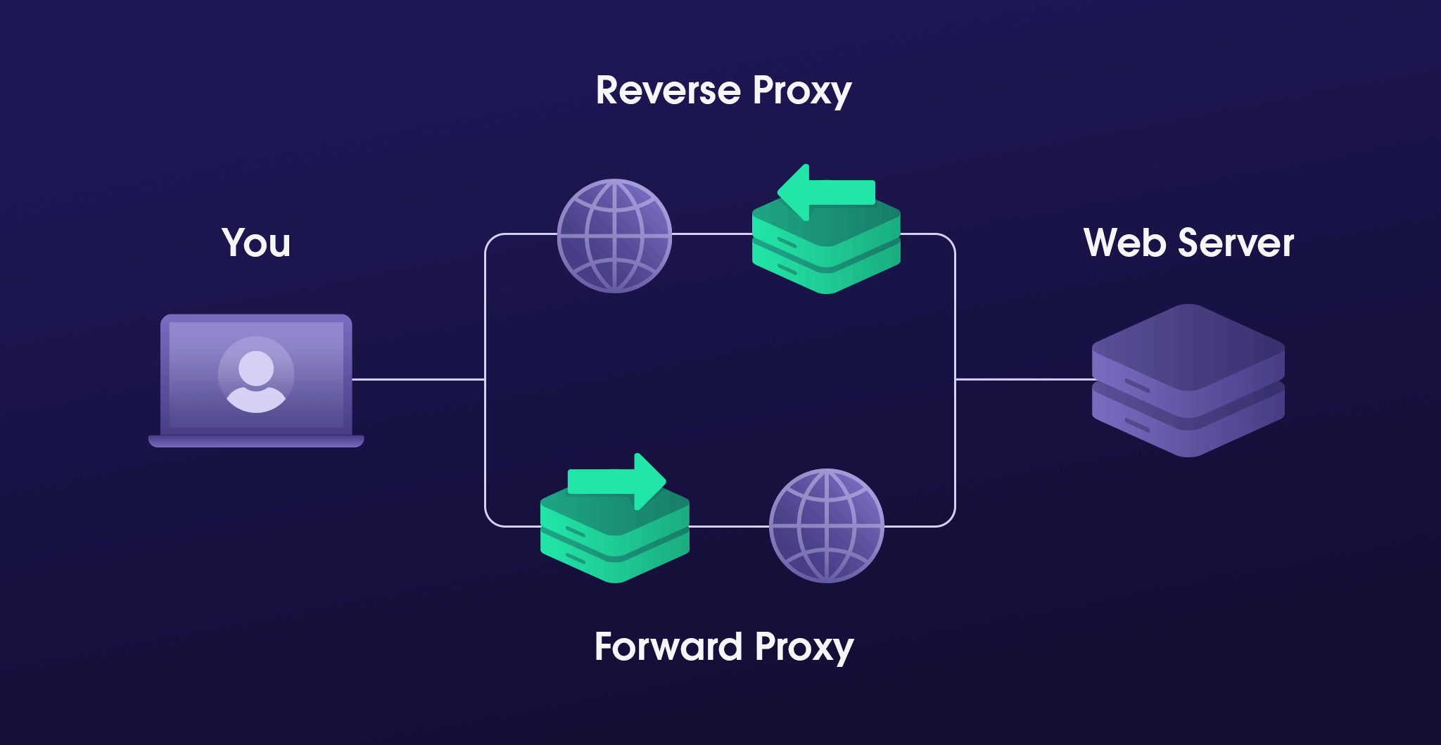 The differences between forward and reverse proxies