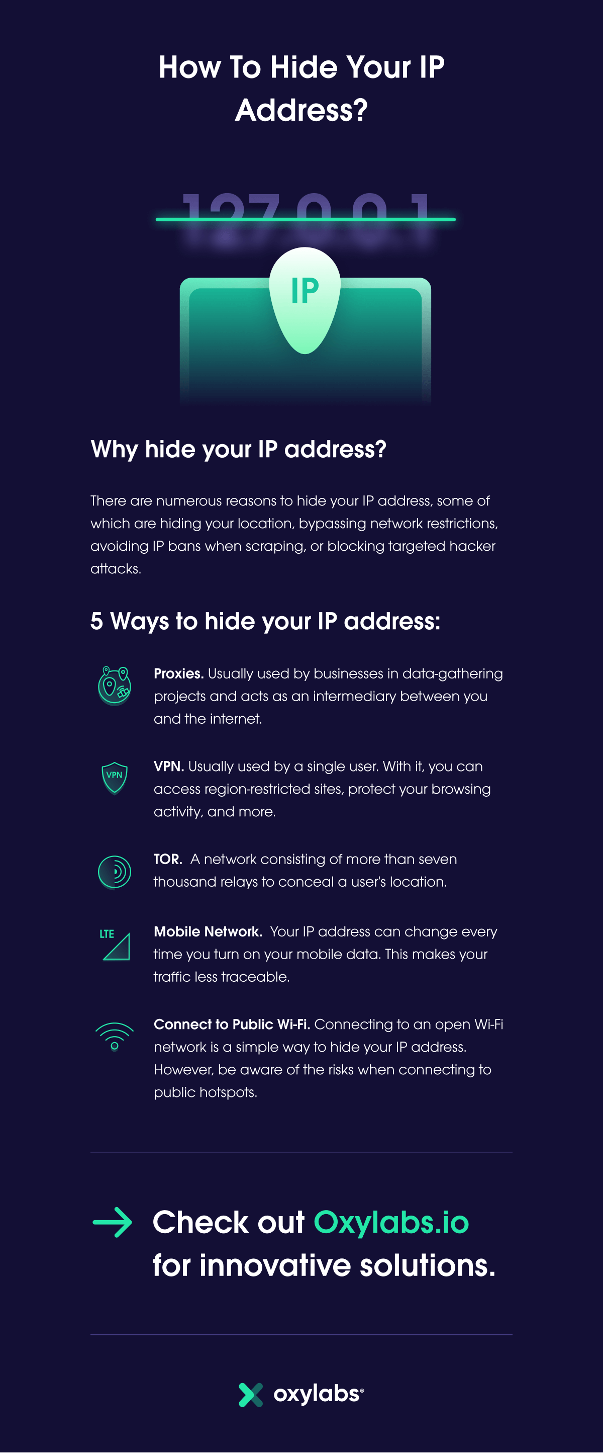how to hide you IP address