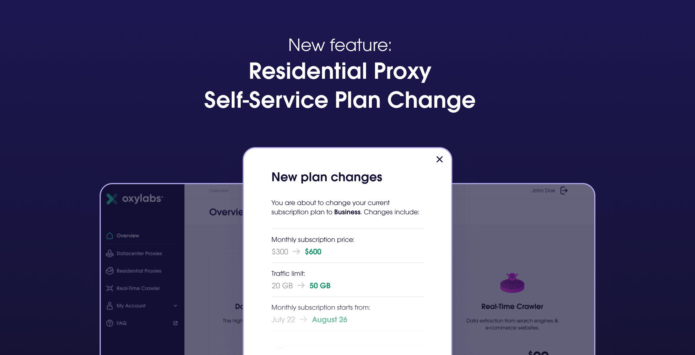 Residential Proxy Self-Service Update: Easily Change Your Plan!